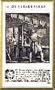 , De Boekdrukker (der Buchdrucker), l'imprimeur. gravure sur cuivre hollandais du XVIIè ou XVIIIè, feuille 10.2x16 /passepartout 24x30 cm