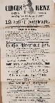 , 12 dressirte Rapphengste, dressirt und zu gleicher Zeit vorgeführt von Herrn F. Renz. (Unterzeichner:) E. Renz, Direcor..