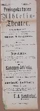 , Preisgekröntes Athletin-Theater. (Unterzeichner:) F. A. Hentschel, Entrepeneur..