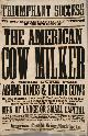 AMERICANA, American Cow Milker Machine Poster, Original, 19th Century Ephemera
