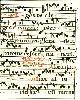 , Beidseitig beschriebene Notenhandschrift aus einem lateinischen Gesangbuch. In einfachem, verglasten  Holzleistenrahmen.