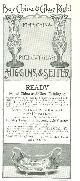 ADVERTISEMENT, 1901 Ladies Home Journal Higgins and Seiter Magazine Advertisement