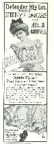 ADVERTISEMENT, 1901 Ladies Home Journal Defender Mfg. Co's Sheets and Pillowcases and Muslin Underwear Magazine Advertisement