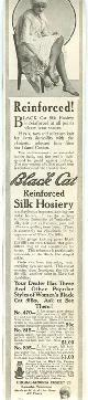 ADVERTISEMENT, 1915 Ladies Home Journal Black Cat Reinforced Silk Hosiery Magazine Advertisement