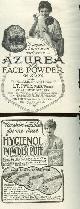 ADVERTISEMENT, 1916 Ladies Home Journal Azurea and Hygeienol Powder Puff Advertisements
