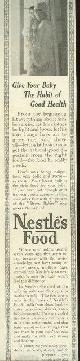 ADVERTISEMENT, 1915 Ladies Home Journal Nestle's Food Magazine Advertisement