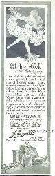 ADVERTISEMENT, 1916 Ladies Home Journal Lazell Pefumer Cloth of Gold Advertisement