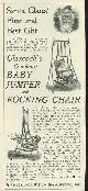 ADVERTISEMENT, 1901 Ladies Home Journal Glasock's Combined Baby Jumper and Rocking Chair Magazine Advertisement