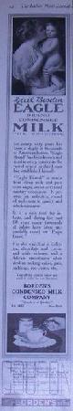 ADVERTISEMENT, 1916 Ladies Home Journal Borden's Eagle Brand Condensed Milk Magazine Advertisement