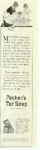 ADVERTISEMENT, 1915 Ladies Home Journal Packer's Tar Soap Magazine Advertisement