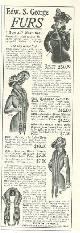 ADVERTISEMENT, 1901 Ladies Home Journal Edward S. George Furs Magazine Advertisement