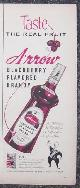 ADVERTISEMENT, 1956 Arrow Blackberry Flavored Brandy Life Magazine Advertisement
