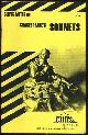 0822000776 LOWERS, JAMES, Cliffs Notes on Shakespeare's Sonnets