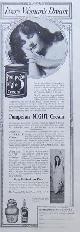 ADVERTISEMENT, 1917 Ladies Home Journal Advertisement for Pompeian Night Cream