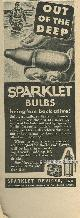 ADVERTISEMENT, 1944 World War Ii Sparklet Bulbs Magazine Advertisement