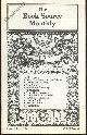 HUCKANS, JOHN, Book Source Monthly Magazine September 1987