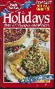 BETTY CROCKER, Holidays over 100 Recipes and Ideas November 1994