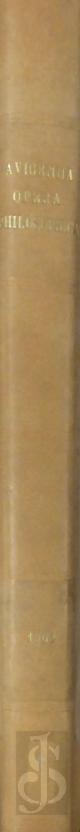 ABÅ« Ê¿ALÄ« AL-Á¸¤USAYN B. Ê¿ABD ALLÄ�H IBN SÄ«NÄ�, AVICENNA, Avicenna, Opera Philosophica. Réimpression en fac-simile agrandi. Avec en tableau des abrévations