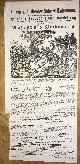 , Heute Donnerstag den 31. Juli 1862: Grosse ausserordentliche Vorstellung in der höheren Reitkunst, noch nie gesehen Gymnastik und Vorführung der ausgezeichnetsten Schulpferde. Zum Erstenmale. Mazeppa`s Verbannung..