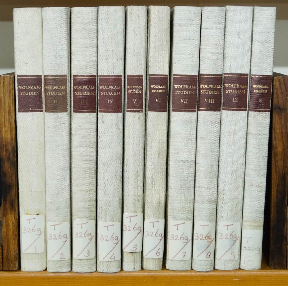 WOLFRAM VON ESCHENBACH, SCHRÖDER, W., (HRSG.) - Wolfram-Studien. 10 volumes.