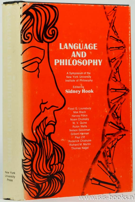 HOOK, S., (ED.) - Language and philosophy. A symposium.