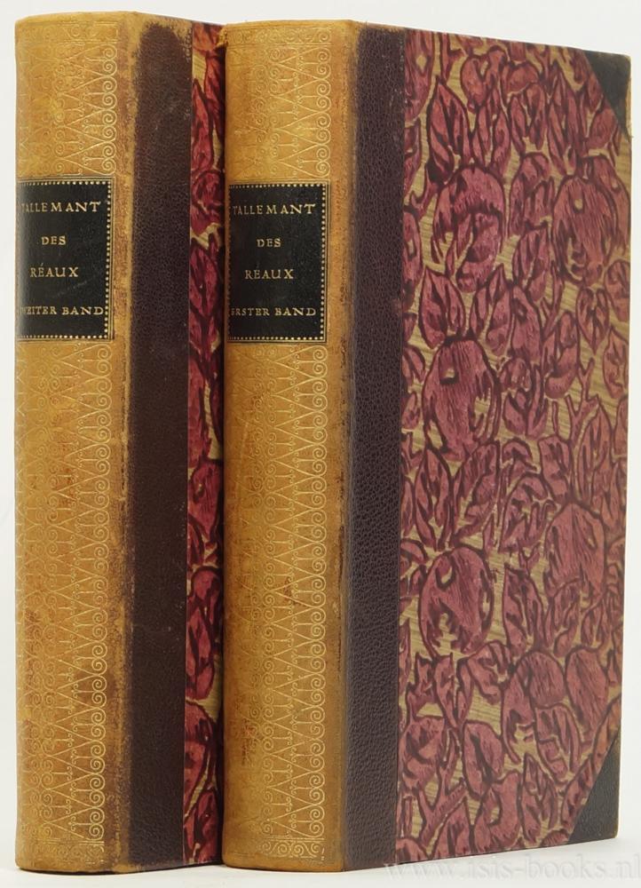 TALLEMANT DES RÉAUX, GÉDÉON - Geschichten. Deutsch von Otto Flake. Mit zwanzig Porträts. 2 volumes.