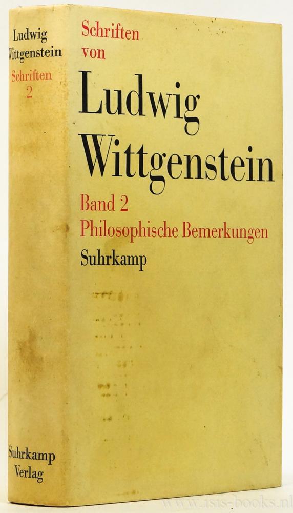 WITTGENSTEIN, L. - Philosophische Bemerkungen. Aus dem Nachlass herausgegeben von R. Rhees.