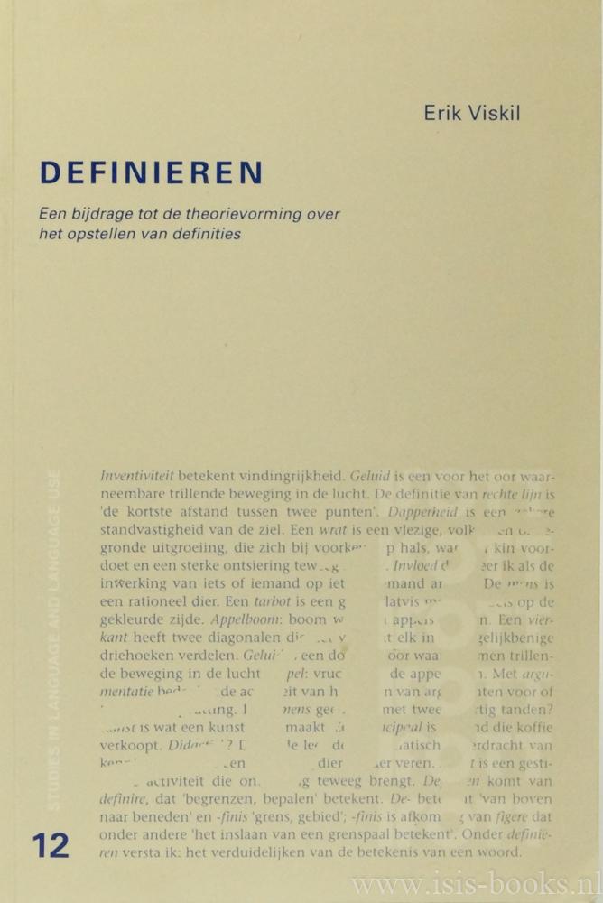 VISKIL, E. - Definieren. Een bijdrage tot de theorievorming over het opstellen van definities.