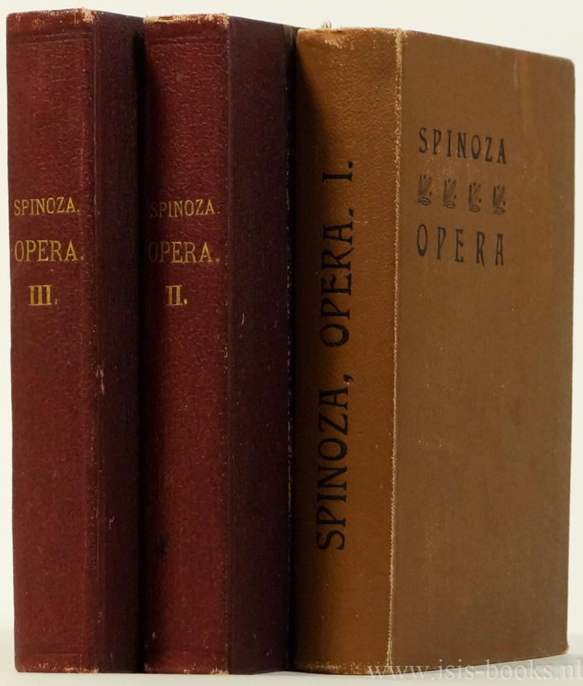 SPINOZA, B. DE - Opera quae supersunt omnia. Ex editionibus principibus denuo edidit et praefatus est Carolus Hermannus Bruder. Editio stereotypa. 3 volumes.