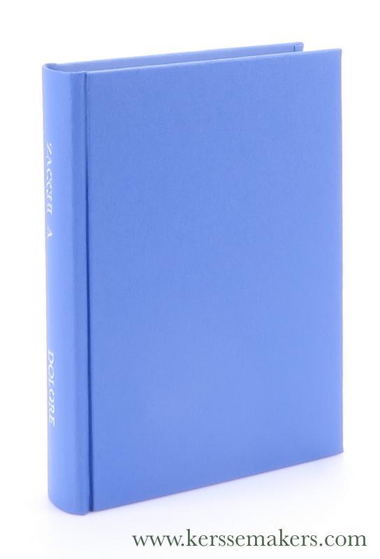 ZACCHI, P. ANGELO. - Il problema del dolore : dinanzi all'intelligenza e al cuore - con il diario del compianto autore. Settima edizione.