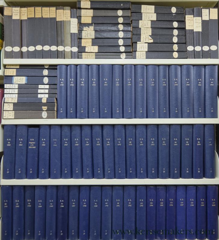 JOURNAL / REVUE BIBLIQUE: - Revue Biblique Internationale publiee par l'Ecole Pratique d'Etudes Bibliques / Archeologique Francaise. 1897 & 1910-2000.