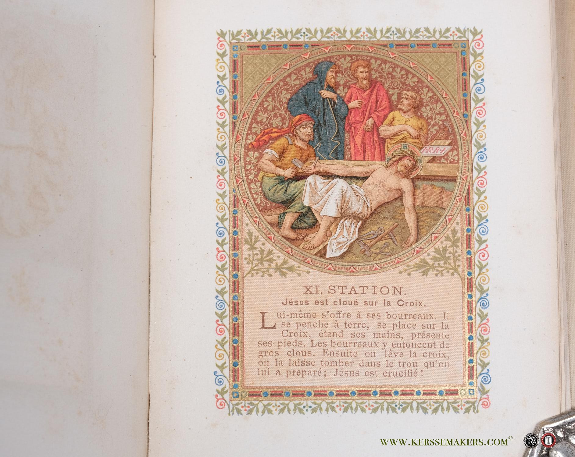 WITTMANN, J. A. - Le Chemin de la croix. 14 dessins par le prof. Raphaël Grünnes après le prof. J. Klein. Le profit serat procuré aux orphelins.