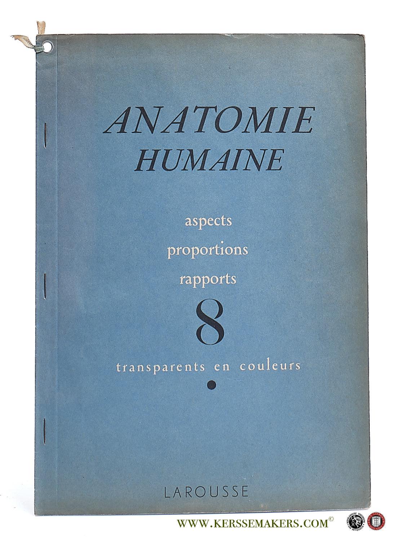 (COLLECTIF) - Anatomie humaine. Aspects, proportions, rapports. 8 transparents en colours. Dessins de S. Dupret.