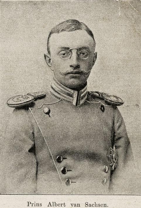 ALBERT VON SACHSEN. - Portrait of Prince Albert von Sachsen.
