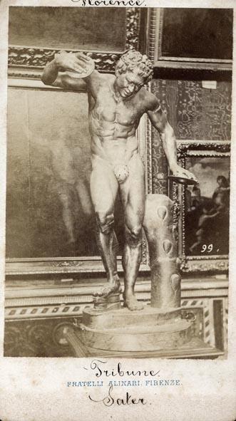 ALINARI, FRATELLI. - Firenze. Fauno danzante. Tribune Uffizi. (Johann Zoffany (1733-1810).