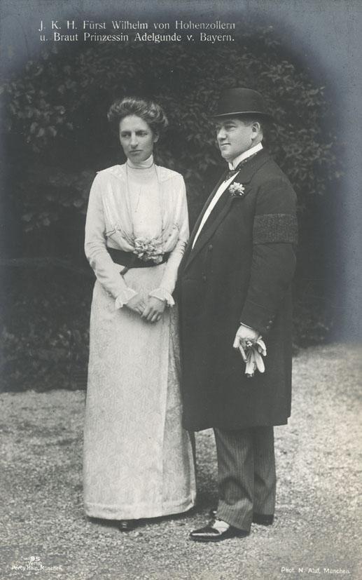 ALUF, H. - Fürst Wilhelm von Hohenzollern und seine Braut Prinzessin Adelgunde von Bayern.