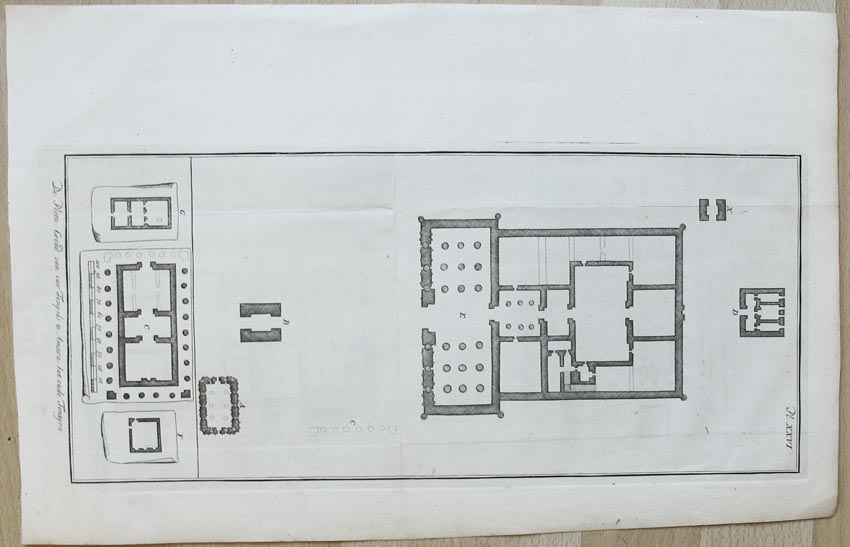 AMARA. - Platte-Grond van vier tempels te Amara. het oude Tentyra.