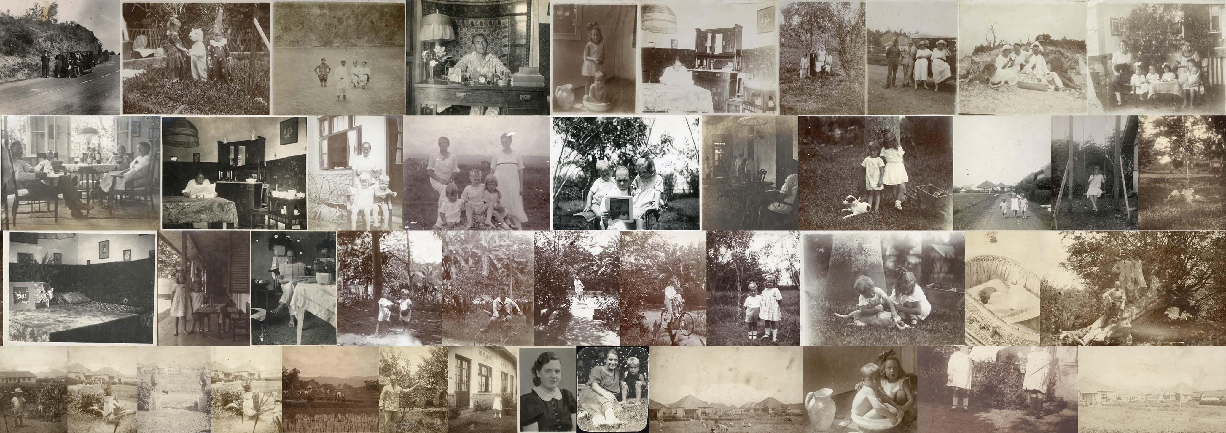BANDOENG. - Dutch familiy life in Bandoeng, West-Java.  Album with 44 photographs.