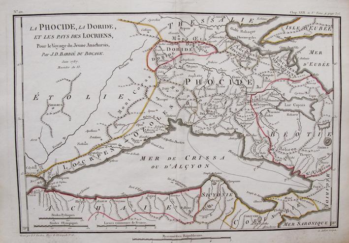 BARBIE DU BOCAGE, J. D. - La Phocide, la Doride. et les Pays des Locriens.
