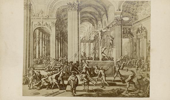 BEELDENSTORM. - De Beeldenstorm, in Augustus 1566. After a print or painting.