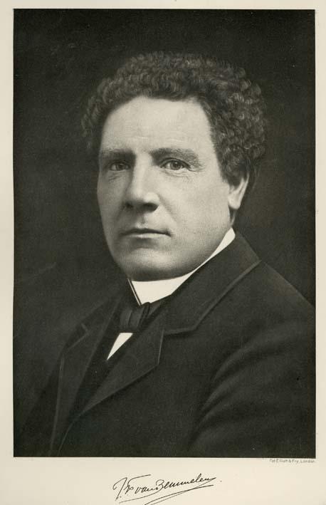 BEMMELEN, J. F. VAN. - Portrait of J. F. van Bemmelen, after a photograph by Elliott & Fry, London, o. ö. an der Reichsuniversität Groningen, Holland.