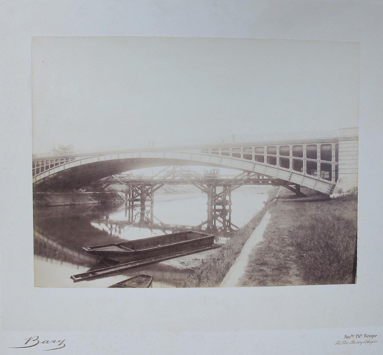 BENQUE & CIE. - Bridge, Bary, the construction of the Parisian Metropolitan during 1899-1911.