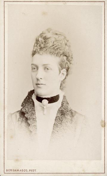 BERGAMASCO, CHARLES. - Portrait of Alexandra of Denmark.