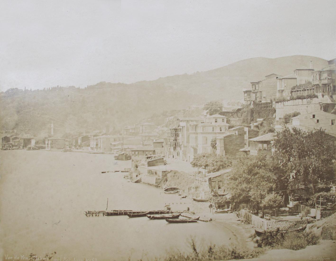 BERGGREN, G. - (Constantinople). Vue de Yeni-Mahalé haut Bosphore.