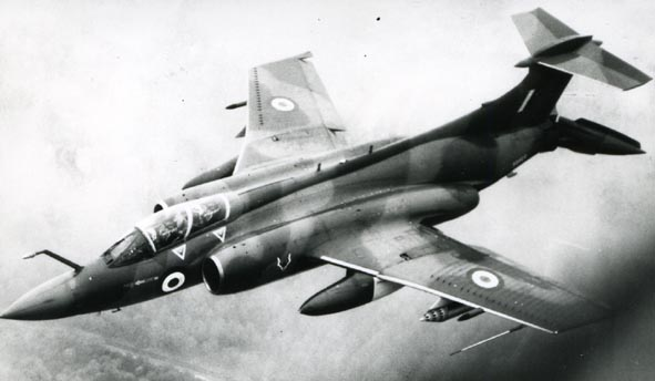 BLACKBURN. - Buccaneer S.2A, XV155, 12 Sqn, air to air.