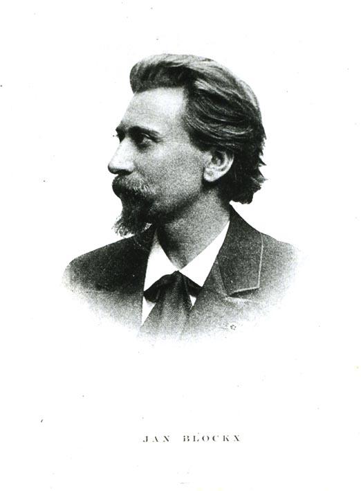 BLOCKX, JAN. - Photo-reproduction of the portrait of Jan Blockx, flemish composer.