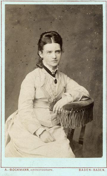BOCKMANN - Portrait of a woman.