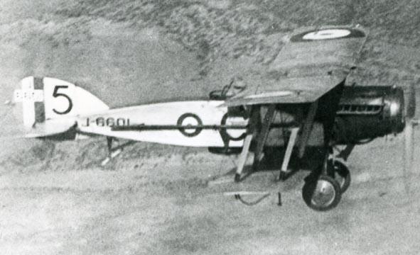 BRISTOL. - Fighter, J6601/C, 5 Sqn, air to air.