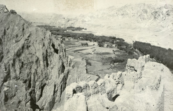 CENTRAL ASIA. - View from a pulpit of a fort into a valley in Central Asia.
