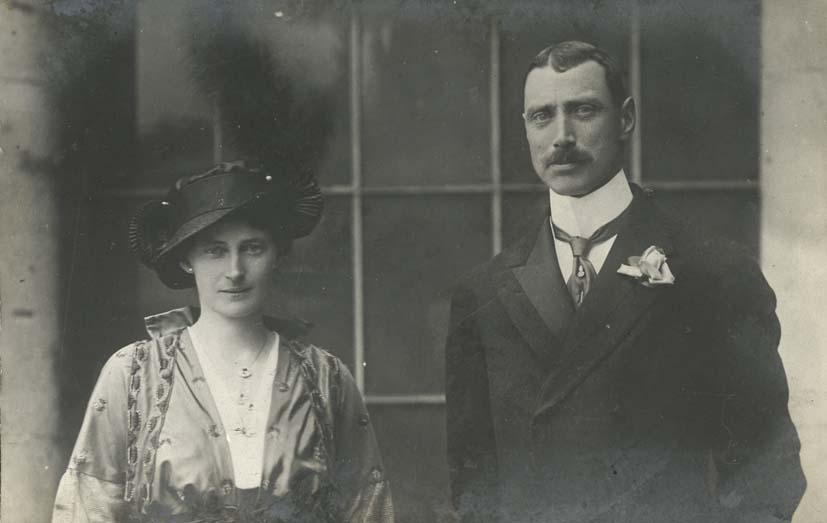 CHRISTIAN X. - King Christian X of Denmark and Queen Alexandrine of Mecklenburg-Schwerin.